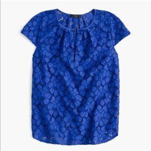 J.Crew blue lace blouse